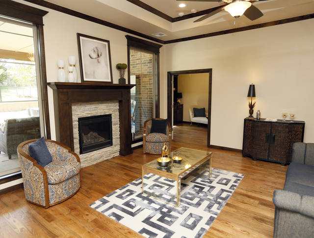 A View Of The Living Room At 11125 Katie Beth Lane, The Featured Home In