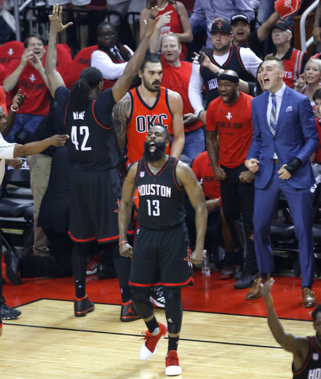 Houston Rockets Game Log: Thunder: Houston Rockets Hammer Oklahoma City In Game 1