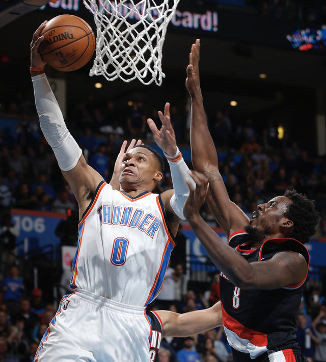 Portland Blazers Defensive Rating: Thunder Defense Can't Support Westbrook's Career High 58