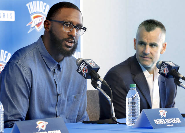 Patrick Patterson, left, turned down the chance to play in college for Billy Donovan. Now Donovan will coach him with the Thunder. [PHOTO BY JIM BECKEL, THE OKLAHOMAN]